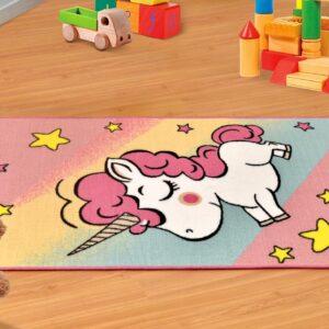 שטיח ילדים – דגם חד קרן צבעוני