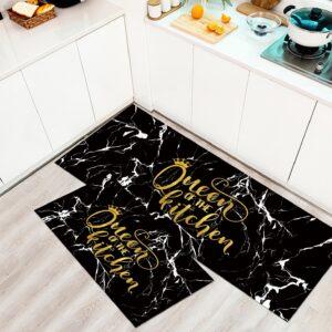 שטיח מטבח – דגם Queen שחור זהב